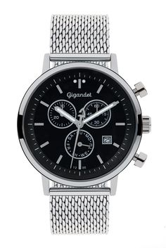 Gigandet CLASSICO Men's/Women's Analogue Chronograph Quartz Watch Silver Black G6-012: Amazon.co.uk: Watches