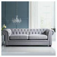 Buy Chesterfield Linen Medium Sofa, Silver from our Fabric Sofas range - Tesco.com