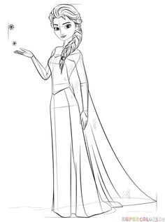 Elsa Coloring Sheets Also See The Category To Find More