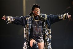 Hugs for everyone. Rihanna embraces the love from her fans during a performance on Oct. 3 in Sydney