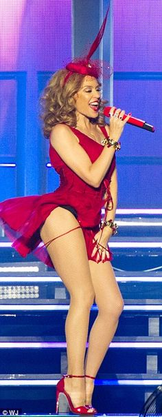 Bootylicious: Swirling away on stage to her catchy tunes, Kylie proved she still has the e...