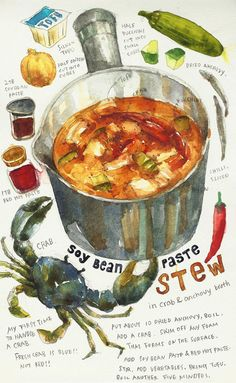 2013 Nov. 17th Soy Bean Paste Stew in anchovy and crab broth