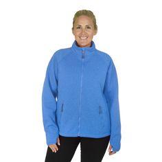 Plus Size Champion Women's Plus Sweater with Faux Teddy Sherpa (Oxford Heather-1X )