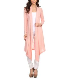 Another great find on #zulily! Pale Pink Open Cardigan #zulilyfinds