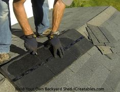 How to install asphalt shingles cutting ridge cap from shingles