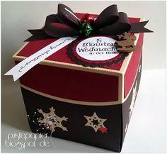 Pustepapier : 15 Minuten Weihnachten in der Box mit Tannenbaum t...