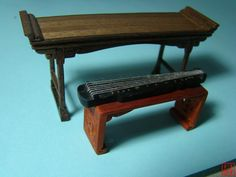 GUqin, Guqin,Chinese ancient furniture wooden model 1:25