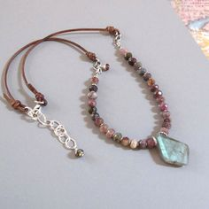 Items similar to Ruby Labradorite Necklace Sterling Silver Leather Garnet Wabi-Sabi DJStrang Boho Spectrolite Red Semi-Precious Gemstone Sundance Style on Etsy Leather Necklace, Boho Necklace, Leather Jewelry, Boho Jewelry, Beaded Jewelry, Jewelery, Silver Jewelry, Wire Jewelry, Necklace Ideas