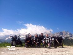 Behind the clouds, Mount Civetta! #motorcycle #tour #italy
