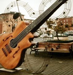 Guitar Sculpture by Suzanne Kurilla