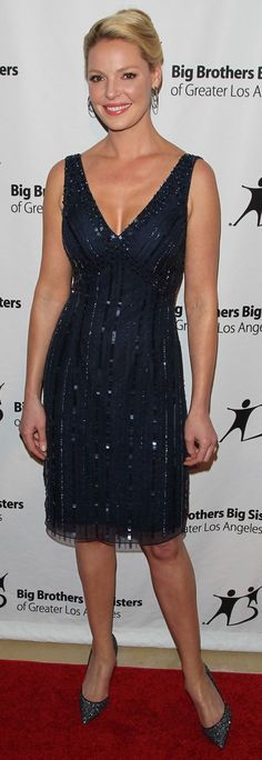 "Katherine Heigl in Sequin Dress and Christian Louboutin ""Iriza"" Pumps"