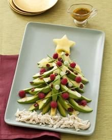 Feliz Navidad Avocado Tree Salad w/ Chili Vinaigrette Recipe