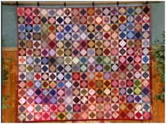 Anita Grossman Solomon's square on point block quilt video tutorial as featured on HGTV's Simply Quilts show, hosted by Alex Anderson.
