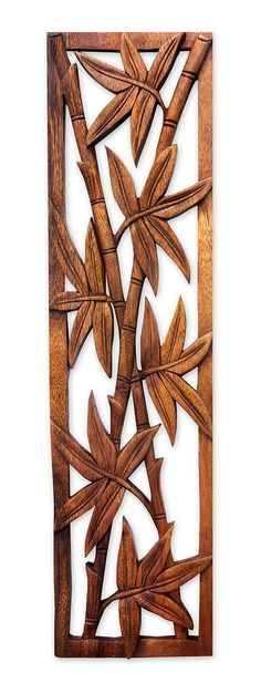 Wood relief panel, 'Bamboo Forest' by NOVICA