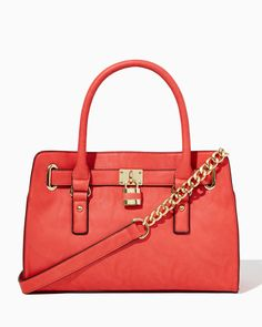 charming charlie | Lady Lockbox Satchel | UPC: 450900488512 #charmingcharlie
