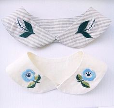 Embroidered collars - top one would be lovely on a little girl's dress