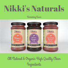 Nikki's Naturals simmering sauce makes everything good. #nikkisnaturals #simmeringsauce #allnatural #organic
