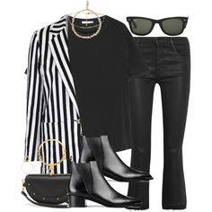 Sin título #4449 by hellomissapple on Polyvore featuring polyvore, fashion, style, T By Alexander Wang, Topshop, J Brand, Acne Studios, Chloé, Maria Francesca Pepe and Ray-Ban