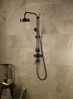 Samuel Heath Style Moderne exposed shower set in City Bronze. Bathroom Taps, Big Bathrooms, Kitchen Taps, Rustic Bathrooms, Bath Mixer, Modern Shower, Industrial Bathroom, Shower Systems, Shower Set