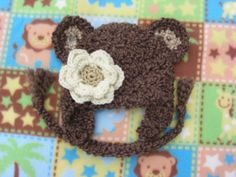 Newborn Baby Bear  Crocheted Hat Photo Prop by Snazzybeans on Etsy, $18.00
