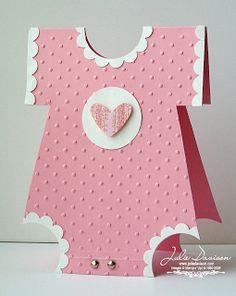 Julie's Stamping Spot -- Stampin' Up!  Onesie Baby Shower Card