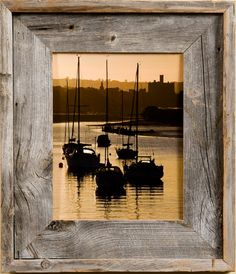 8x8 Barnwood Picture Frames, Medium Width 2.75 inch Lighthouse Series