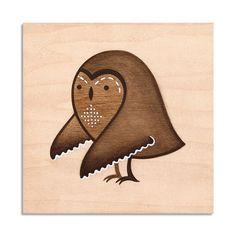 {cute Owl painted on wood}