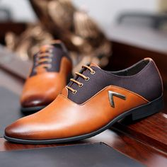 Chevron Oxford Shoes