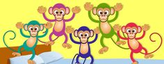 Five Little Monkeys Lyrics is an English folk song and fingerplay. It is normally joined by a succession of signals that imitate the expressions of the melody. No More Monkeys, Five Little Monkeys, Baby Songs, Kids Songs, Just Dance Kids, Monkey Nursery, Monkey Jump, Kindergarten Age, Nursery Rhymes Songs