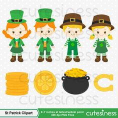 St Patrick's Clipart St Patrick's Day Clipart St by Cutesiness Dementia Activities, Craft Activities, Blog Design, Design Art, Sant Patrick, St Patricks Day Clipart, Mickey Mouse Ears, Wedding Tattoos, Animal Quotes