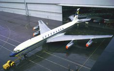 Boeing-707-430 LH, 17.3.1960 ~ First Transatlantic Non-Stop Flight ~ Lufthansa would ultimately operate 23 707 jetliners.