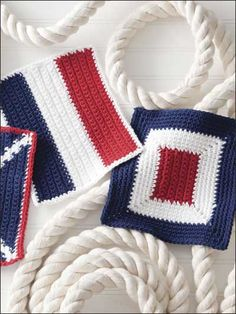 Not just for a boat's galley, these three dishcloth designs will give any kitchen a nautical flair. This e-pattern was originally published in the June 2010 issue of Crochet World magazine.