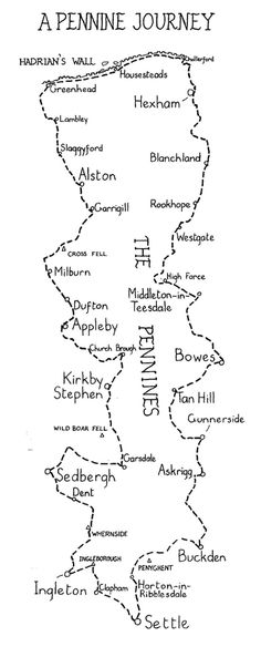 The Pennine Journey - map by Ron Scholes