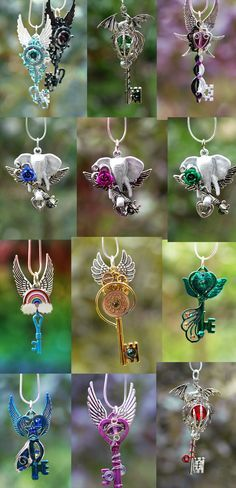 honeyyoushouldseemeinacrown: noo-mikasha-thash-ghayy: steampunk-street: KEYPERS COVE if someone . Key Jewelry, Cute Jewelry, Jewlery, Jewelry Accessories, Jewelry Design, Jewelry Making, Mode Steampunk, Key Necklace, Key Pendant