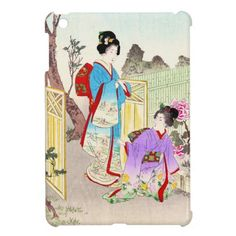Flowers of Floating World, Viewing a Peony Garden iPad Mini Cover #ipad #ipadmini #smartphone #apple #case #cover #ipadminicase #japan #oriental #japanese #gift #geishs