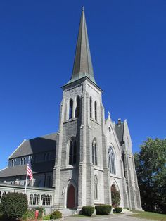 South Parish Congregational Church and Parish House in Kennebec County, Maine.