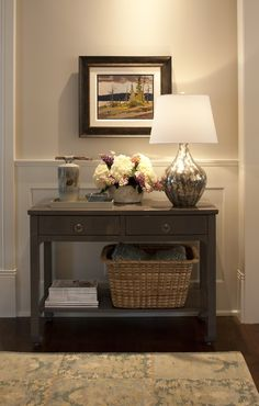 pretty foyer vignette