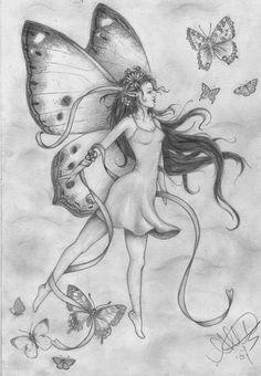 Fairy+Drawings flying fairy by on deviantart fairy coloring page Fairy Wings Drawing, Fairy Drawings, Angel Drawing, Butterfly Drawing, Fantasy Drawings, Pencil Art Drawings, Art Drawings Sketches, Fantasy Art, Elves Fantasy