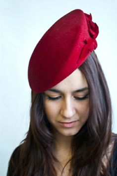 Red Leaves by LYDIA WALL. Reminds me of one of the hats worn by Kate Middleton