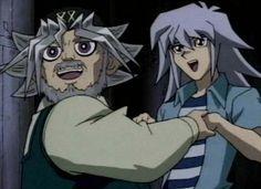 yugioh season 5 ryou bakura and Grandpa Mutou. So cute!