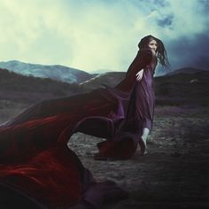 "Another Brooke Shaden piece..Again the colors are striking and I love the feeling of movement in the cape...entitled..""What keeps you warm"""