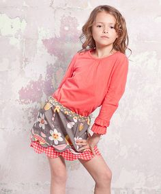 Take a look at this Indian Summer Lindsay Top & Skirt - Infant, Toddler & Girls by Jelly the Pug on #zulily today!