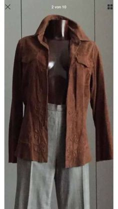 fashion trends SUPERSOFT Rare Jacket Size Small Fabulous detailed authentic suede JEANS jacket with great features and sophisticated details. all year around. condition wear only. Suede Jacket, Leather Jacket, Star Fashion, Fashion Trends, Nice Dresses, Dressing, Homemade, Jeans, How To Wear