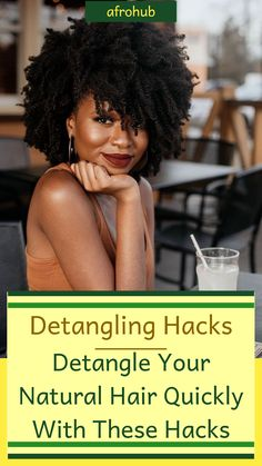 Detangling natural hair can be such a tasking exercise especially when youre not really sure what youre doing. These 5 super simple hacks will have your mane neat and detangled in no time! #detanglingnaturalhair #howtodetanglenaturalhair