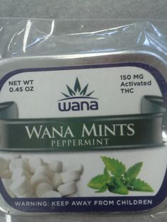 Wana Mints  Peppermint flavor mints with 150mg of activated THC. These are great if you love mint flavor. $14