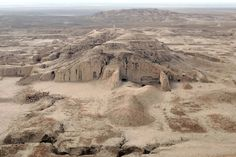 The archaeological site of Uruk (Warka), 30km east of Samawa, Iraq. The city's walls were built 4,700 years ago by the Sumerian King Gilgamesh, hero of the eponymous epic. Essam Al Sudani / AFP