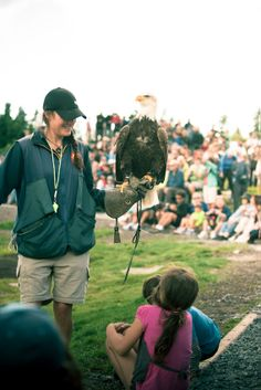 Eagle talk at the Birds in Motion show at Grouse Mountain.