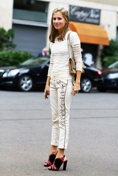 #fashion-ivabellini Marina Larroude, Embroidered Vine   Street Fashion   Street Peeper   Global Street Fashion and Street Style