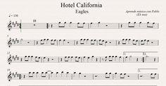 HOTEL CALIFORNIA: Eb Inst (saxo alto, saxo barítono...) (partitura con p...