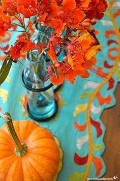 Aqua/Teal/Turquoise & Orange